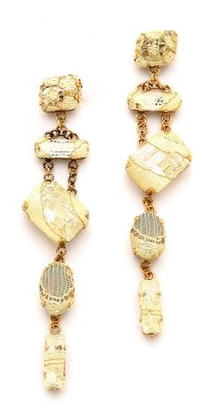 Erickson Beamon Smoke & Mirrors Earrings | SHOPBOP