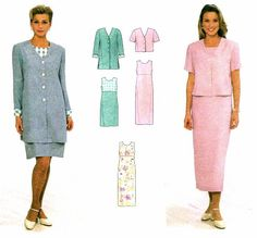 Womens Dress and Jacket Simplicity 7965 Misses by patternshop, $7.99