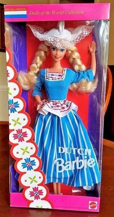 DUTCH BARBIE DOLL #11104 - 1994 - NEW IN BOX - DOLLS OF THE WORLD #Mattel #DollswithClothingAccessories