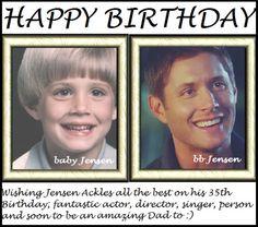 Happy birthday Jensen . Baby ackles