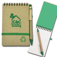 PSE727GN  Small Recycled Jotter Notebook  Description:  - Recycle Notebook with recycled hollow-carved logo on the cover  - 68 sheets blank recycled paper  - Recycled cardboard ball pen with black ink included.    For more information please contact GWN at info@gwnpromo.com. Global Warming, Recycling, Notebook, Carving, Ink, Logo, Paper, Gifts, Black