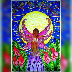 Fada da noite  Night fairy #livrodecolorir #prazeremcolorir #divasdasartes #coloringbook #colorindolivrostop #livrocoloriramo #fairy…