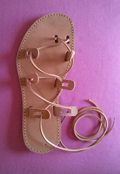 Greek sandals.