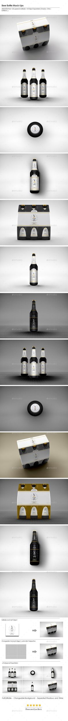 Beer Bottle Mock-Ups. Download here: http://graphicriver.net/item/beer-bottle-mockups-2/15678942?ref=ksioks