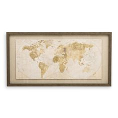 Perfect for the modern home, this natural and gold framed artwork is made to stand out in your living or bedroom space Framed World Map, Study Corner, Framed Artwork, Vintage World Maps, Modern, Nature, Studying, Lounge, Room