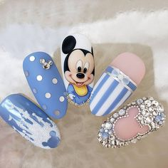 """your success is our reward"" – Ugly Duckling Nails Inc. Nail Art Disney, Disney Acrylic Nails, Best Acrylic Nails, Disney Nail Design, Disney Disney, Ongles Mickey Mouse, Mickey Mouse Nails, Baby Mickey Mouse, Nails Inc"