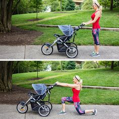 walking lunge with stroller