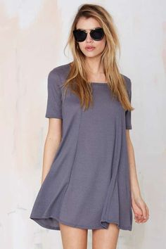 Simple Game Ribbed Dress - Dresses