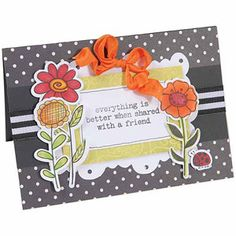 Sizzix Framelits Dies With Cling Stamps, 5/pkg, Garden Flowers