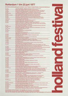 Anthon Beeke, Holland Festival, Rotterdam 1 t/m 23 juni 1977