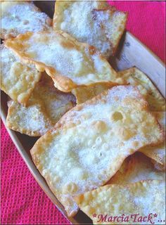 Oreillettes the donuts of Provence - Yummy Food Recipes Donut Recipes, Baking Recipes, Baking Ideas, Donuts, Savoury Baking, Crepe Recipes, French Pastries, Cookie Desserts, Crepes