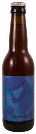 Cerveja Mikkeller Hop Series Galena, estilo India Pale Ale (IPA), produzida por Mikkeller, Dinamarca. 6.8% ABV de álcool.