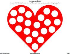 Dot Heart Worksheet >> Gift of Curiosity