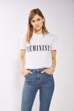 Feminist T-Shirt by Tee & Cake - Topshop