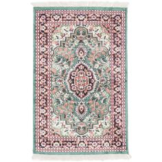 You'll love the Kashmir Kerman Hand-Knotted Green/Red Area Rug at Wayfair - Great Deals on all Décor  products with Free Shipping on most stuff, even the big stuff.