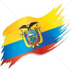 Ecuador Flag, Creative Infographic, Flag Vector, Vector Stock, Clip Art, Illustration, Design, Flags, Creativity