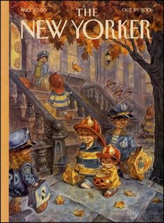 Illustration painting/drawing - The New Yorker cover artwork by Peter de Séve The New Yorker, New Yorker Covers, Halloween Books, Halloween Pictures, Vintage Halloween, Happy Halloween, Halloween Treats, Halloween Illustration, Illustration Art
