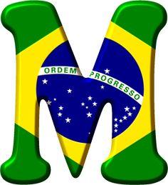 Alfabeto con la Bandera de Brasil