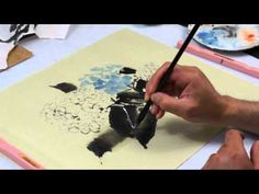 How to Paint Hydrangeas in Chinese Brush Painting with Henry Li(HD) - YouTube