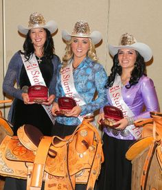 2012 Calgary Stampede Queen and Princesses -- I would have guessed this was 1990!!