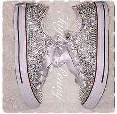 Gotta love the bling: SWAROVSKI Embellished Converse on Etsy.com
