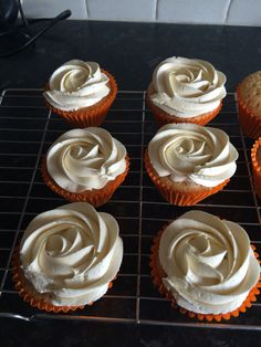 Orange flavour cupcakes with an aniseed buttercream