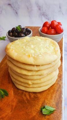 Cheese Manakish (Manakeesh)- The Salt and Sweet Kitchen Armenian Recipes, Lebanese Recipes, Manakeesh Recipe, Lebanese Meat Pies, Lebanese Breakfast, Eastern Cuisine, Dough Balls, Instant Yeast, Vegetarian Cheese