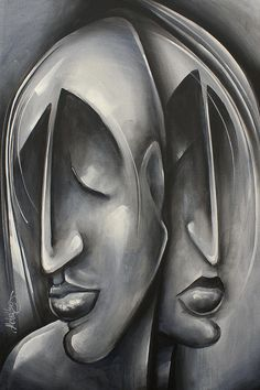 Portrait Painting - Without a Sound by Michael Lang Abstract Portrait Painting, Abstract Art, Frida Art, Cubism Art, Art Pages, Face Art, Urban Art, Creative Art, Fine Art America