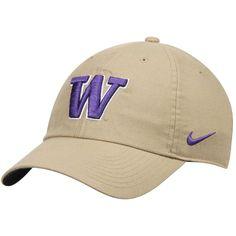 722a165c835 Washington Huskies Nike Heritage 86 Performance Adjustable Hat - Khaki