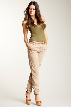 cargo pant...love the entire styling, but would prefer flats