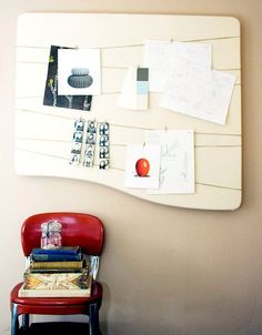Make a Salvaged Wood Inspiration (or Memo) Board