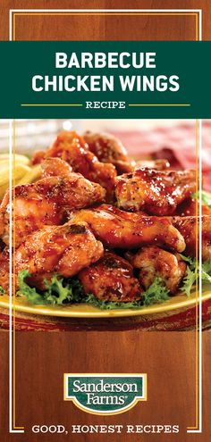 These Barbecue Chicken Wings pack in delicious Greek flavors like lemon, pepper and oregano. Add a few simple ingredients to pump up the flavor of store-bought barbecue sauce for this easy chicken recipe. Grilled Chicken Recipes, Baked Chicken Recipes, Meat Recipes, Appetizer Recipes, Cooking Recipes, Healthy Recipes, Fried Chicken, Appetizers, Barbecue Chicken