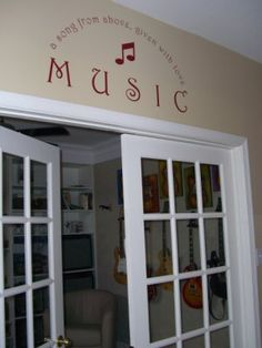 Entrance to music room ♪ ♫