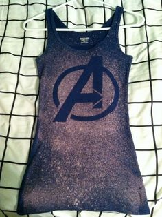 Avengers Logo Bleach Shirt by BleachfestAtTiffanys on Etsy, $14.50