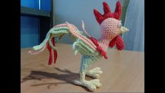 Вязание игрушки  петушок-свистулька, ч.1 голова, туловище