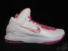 3909c5c29ba Vtg OG 2013 Nike Air KD V 5 s sz 15 VII Aunt Pearl Floral What