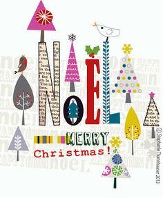 ric-rac - noel, robin, christmas trees