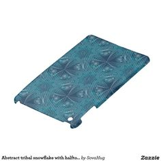 Abstract tribal snowflake with halftones cover for the iPad mini