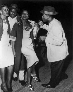 Revellers at the Cotton Club, Lubbock, Texas, 1955.Photo by Eugene Roquemore