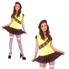 Fancy Dress Costume Girl Guide Brownie & Hat for Hen Nights Girl Costumes, Costumes For Women, Halloween Costumes, 2 Piece Outfits, Dress Outfits, Dresses, Uk Parties, Ladies Fancy Dress, Halloween Fancy Dress