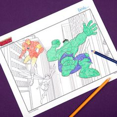 Avengers Coloring Pages | Printables | Disney Family.com