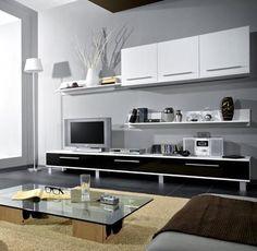 tv media cabinet stand wall unit monaco white black gloss ebay