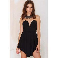 Asymmetric Dress - Black - 1001noches