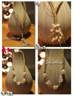 perles et ficelle de lin