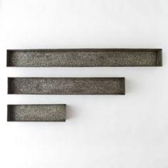 Habit & Form Trough, Dark Zinc in Garden PLANTERS Planters Medium at Terrain Sm $38 - 88