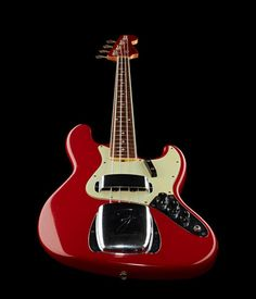 Fender 64 Jazz Bass Relic Dakota Red bass guitar, Custom Shop, Finish: Dakota Red #thomann #bass #fender