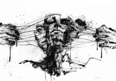 Drawing Restraints Fine Art Print by Agnes Cecile. Authentic giclee print artwork on paper or canvas. Wall Art purchases directly support the artist. Tattoo Gato, Fox Tattoo, Wall Art Prints, Fine Art Prints, Wall Mural, Agnes Cecile, Arte Obscura, Arte Horror, Wow Art