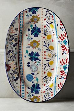 Inside Out Serving Bowl Ceramic Clay, Ceramic Plates, Ceramic Pottery, Decorative Plates, Pottery Painting, Ceramic Painting, Hand Painted Ceramics, Painted Plates, China Painting