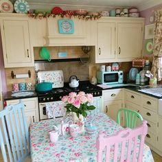 Sew a little love: Kitchen reveal: Pastels and pink