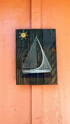 Segelboot-String-Kunst von CherishbyNicole auf Etsy
